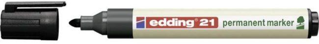 Afbeelding van Edding 4-21-1-1001 Permanent marker EcoLine Zwart Ronde vorm 1.5 - 3 mm 1 stuks