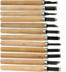 Wood Carving Houtbewerking - Houtsnijmes - Houtbewerking gereedschap - 12-delige set