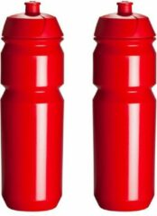 2 x Tacx Shiva Bidon - 750 ml - Rood - Drinkbus