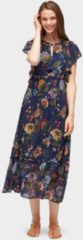 TOM TAILOR DENIM TOM TAILOR DENIM Damen Maxi-Kleid mit floralem Muster, Damen, Flower Print Blue, Größe: M, blau, gemustert, Gr.M