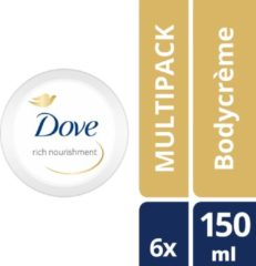 Dove Rich Nourishment Bodycrème - 6 x 150 ml - Voordeelverpakking