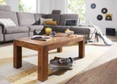 Wohnling WOHNLING Couchtisch MUMBAI Massiv-Holz Sheesham 110cm breit Wohnzimmer-Tisch Design dunkel-braun Landhaus-Stil Beistelltisch