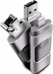 Grijze OTG Flash Drive voor iPhone / iPad / iPod ios en PC - USB-stick - 64GB