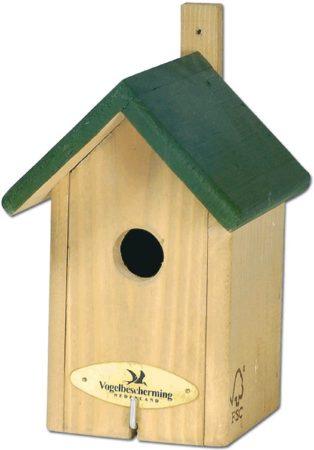 Afbeelding van Vogelbescherming Nestkast Little Rock - Groen - 22 x 12 x 11 cm