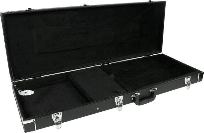Afbeelding van Bent u op zoek naar een zwarte, universele gitaarkoffer om eventueel meerdere elektrische gitaarmodellen in te kunnen vervoeren? Dan is de Fazley GC 500 een zeer betaalbaar optie om uw elektrische solidbody in te plaatsen.