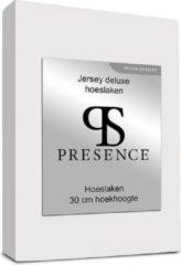 Presence Standaard hoeslaken - Maat: 140/160 x 200/220 - Jersey - Wit - Presence - Maat: 140/160 x 200/220