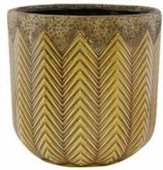 Gele Ter Steege Pot Cecile ochre bloempot binnen 21 cm