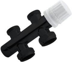 Best Design luxe Onderblok recht 3/4''x3/4 zwart mat 4009830