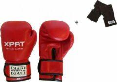 XPRT Fight Gear Rode bokshandschoenen 6 oz + binnenhandschoenen