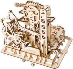 Naturelkleurige ROKR Robotime Houten 3d-puzzel Knikkerbaan 233-delig