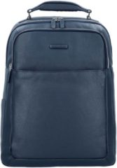 Modus Business Rucksack Leder 43 cm Laptopfach Piquadro blu