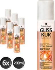 Schwarzkopf Gliss Kur Deep Repair Anti-Klit Spray 200 ml - 6 stuks - Voordeelverpakking