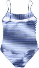La V Badpak met strepen - Blauwe strepen 164-170