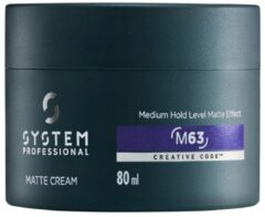 System Professional - System Man - Matte Cream M63 - 80 ml
