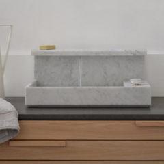 Mg12 Lavabo da appoggio JP in marmo di carrara