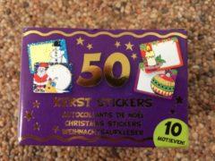 Rand Cadeaustickers Kerst (50st)