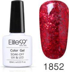 Elite99 Nagellak, Elite 99, Rood Glitters, 1852, Gel Nagellak, Polish, Tenue de Ville