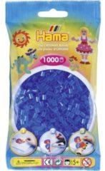 Blauwe Hama Strijkkralen 1000 Stuks Blauw Doorzichtig