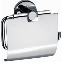 Sanilux Sanix Round toiletrolhouder met klep chroom