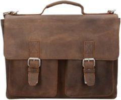 Salisbury Aktentasche Leder 39 cm Laptopfach Leonhard Heyden braun