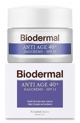 Afbeelding van Biodermal Dagcreme Anti Aging 40 Anti Rimpel Creme Huidveroudering Rimpels Voorkomen