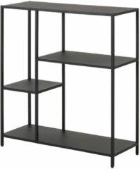 Lisomme industriële open kast Roy - Metaal - 2 planken - Zwart