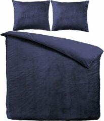 Velvet Couture Velvet Dekbedovertrek - Blauw - Lits Jumeaux - 240 x 200/220 cm