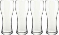 Transparante Bellatio Design 8x Stuks bierglazen voor witbier/rosebier 400 ml - Bierglas voor witbier