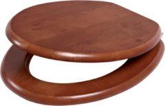 Plieger Classic closetzitting massief hout met metalen bevestigingsset kersen 4340059