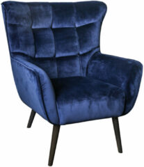 PTMD COLLECTION PTMD Kian velvet fauteuil blauw