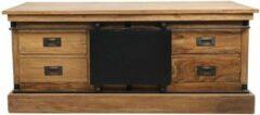 Bruine Vtw Living Industrieel TV meubel van Teakhout - Industrieel - TV kast - Televisie kast - TV cabinet - Industriële Televisie kast - Teakhout - Landelijk - Industriële kast - Dressoir - Vakkenkast - 130 cm breed