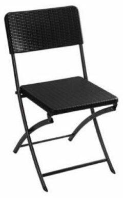 Perel folding chair rattan Campingstoel Zwart FP165R Belastbaarheid (gewicht) (max.) 300 kg
