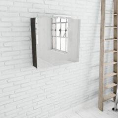 Zaro Beam donker eiken spiegelkast 80x70x16cm 2 deuren
