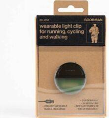 Bookman Eclipse Fietsverlichting - LED Voorlicht / Achterlicht - Oplaadbaar via USB - Compact Design - Waterproof - Zwart