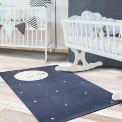 Blauwe Sens Kids Rugs Maan kindervloerkleed - kindertapijt - 67 x 110 cm - wasbaar - zacht - duurzame kwaliteit - speelgoed