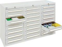 Stumpf Metall Stumpf® ST 420 plus Schubladenschrank mit 24 Schubladen, lichtgrau - 90 x 149 x 50 cm