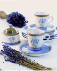 Teekanne Fleur de Provence Zeller Keramik Weiß