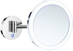 Vergrotingsspiegel Smedbo Outline Draaibaar Battery Operated met LED PMMA Dual Light Chroom