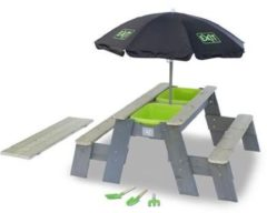 EXIT Aksent Zand- en Water- en Picknicktafel L met Parasol en Schepjes (2 bankjes)
