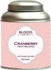 BLOOSS coffee Cranberry | fruit melange | losse thee | 150g | in theeblik