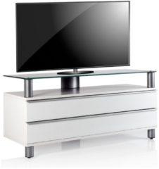 TV-Lowboard Rack Tisch Fernsehschrank TV Tisch Konsole Möbel Holz Schrank 'Dasano' VCM Weisslack