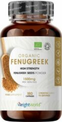 Weight World WeightWorld Biologische Fenegriek Capsules - 750 mg 180 Capsules