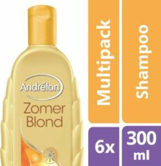 Andrélon Zomerblond - 6 x 300 ml - Shampoo - Voordeelverpakking