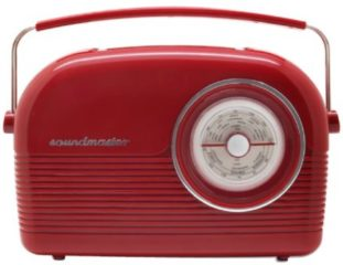 Soundmaster DAB450 DAB+/UKW Retro Radio, Weckfunktion, in blau oder rot Farbe: Rot