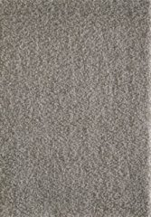 Licht-grijze Basic Collection Vloerkleed Licht Grijs Effen Hoogpolig Tapijt Loca - 160x230cm