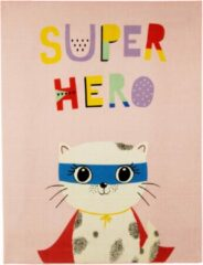 Roze Associated weavers Tapijt Superhero Cat