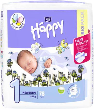 Afbeelding van Babykledingenzo Happy luiers Newborn maat 1 ( 2 x 78 stuks )