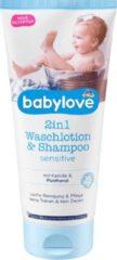 Babylove 2in1 Waslotion & Shampoo gevoelig (200 ml)
