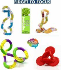 Tangle Toys Schoolpakket Groot - Snelafgeleid - Friemelset - Sensorische hulpmiddelen - Fidget - Focus