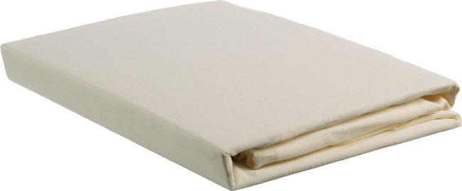 Afbeelding van Beddinghouse jersey split-topper hoeslaken - 100% gebreide katoen - Lits-jumeaux (160x200/220 cm) - Zand